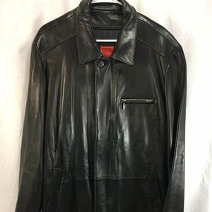 Cole Haan City Leather Coat Jacket Insulated